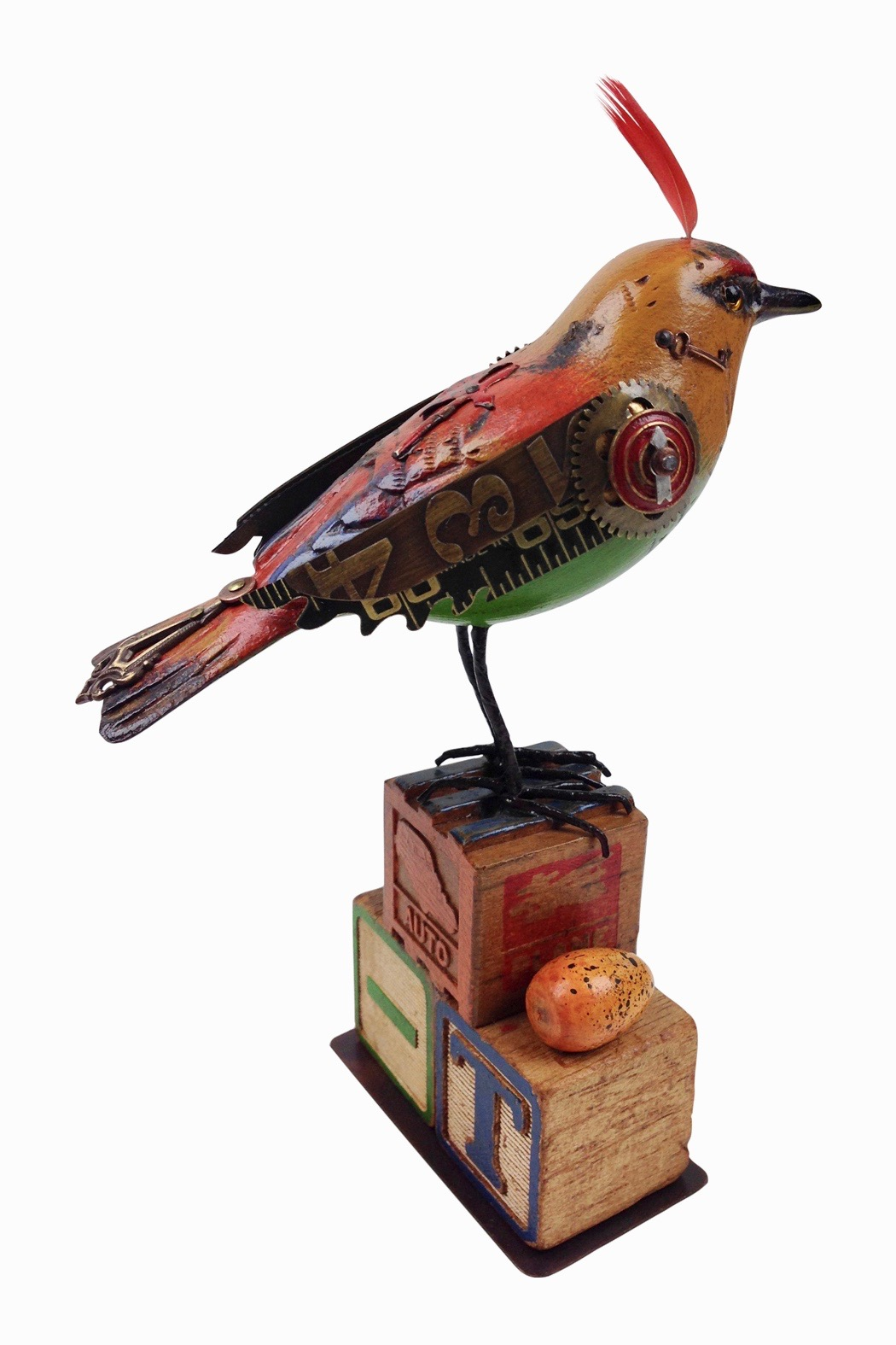 Hand carved bird sculpture go home modern decor gifts for Modern home decor gifts