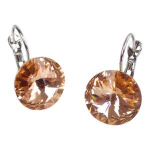 gh43. citrine swarovski earrings 2