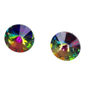 gh48. Green Multi Swarovski Crystal studs