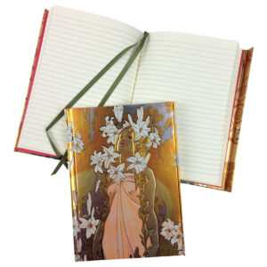 gh59 MUCHA FOIL JOURNAL lilies 1