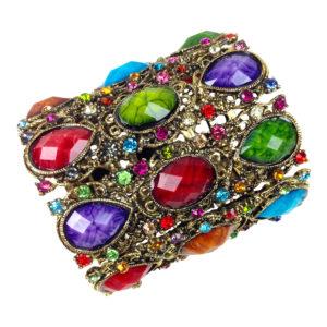gh69 Wide jeweled cuff multi 2
