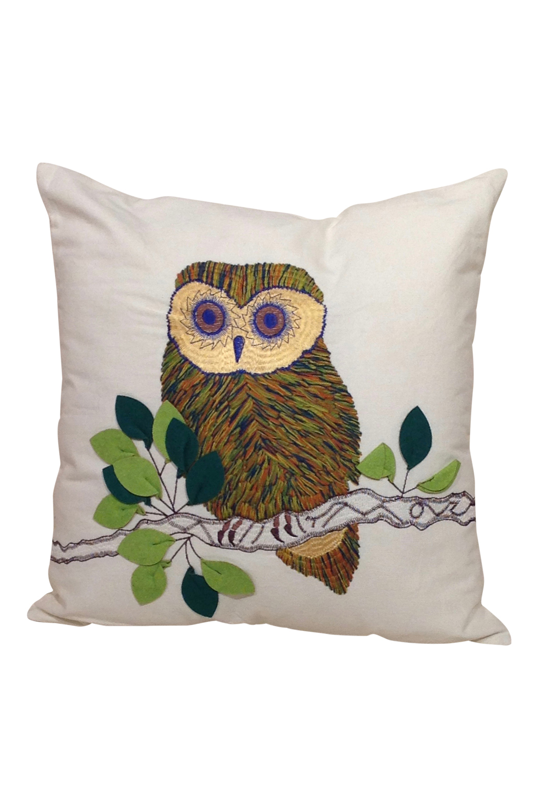 Embroidered owl pillow go home modern decor gifts for Modern home decor gifts