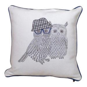 gh93. owl couple pillow 1