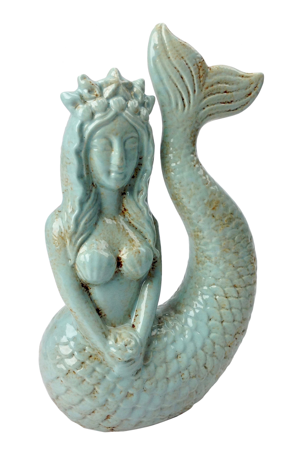 Ceramic mermaid sculpture go home modern decor gifts Home decor sculptures
