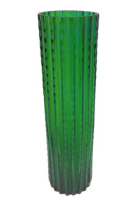 GH244. Tall Chiseled Glass Vase