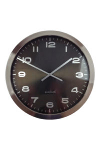 GH250. LARGE BRONZE BRUSHED CLOCK