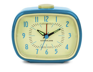 GH255. retro clock in blue