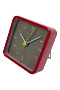 GH257. Square Alarm Clock in red