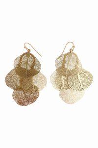 GH105b Filigree Leaf Earrings