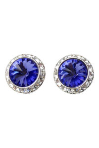 GH282. Tanzanite stud ears with clear