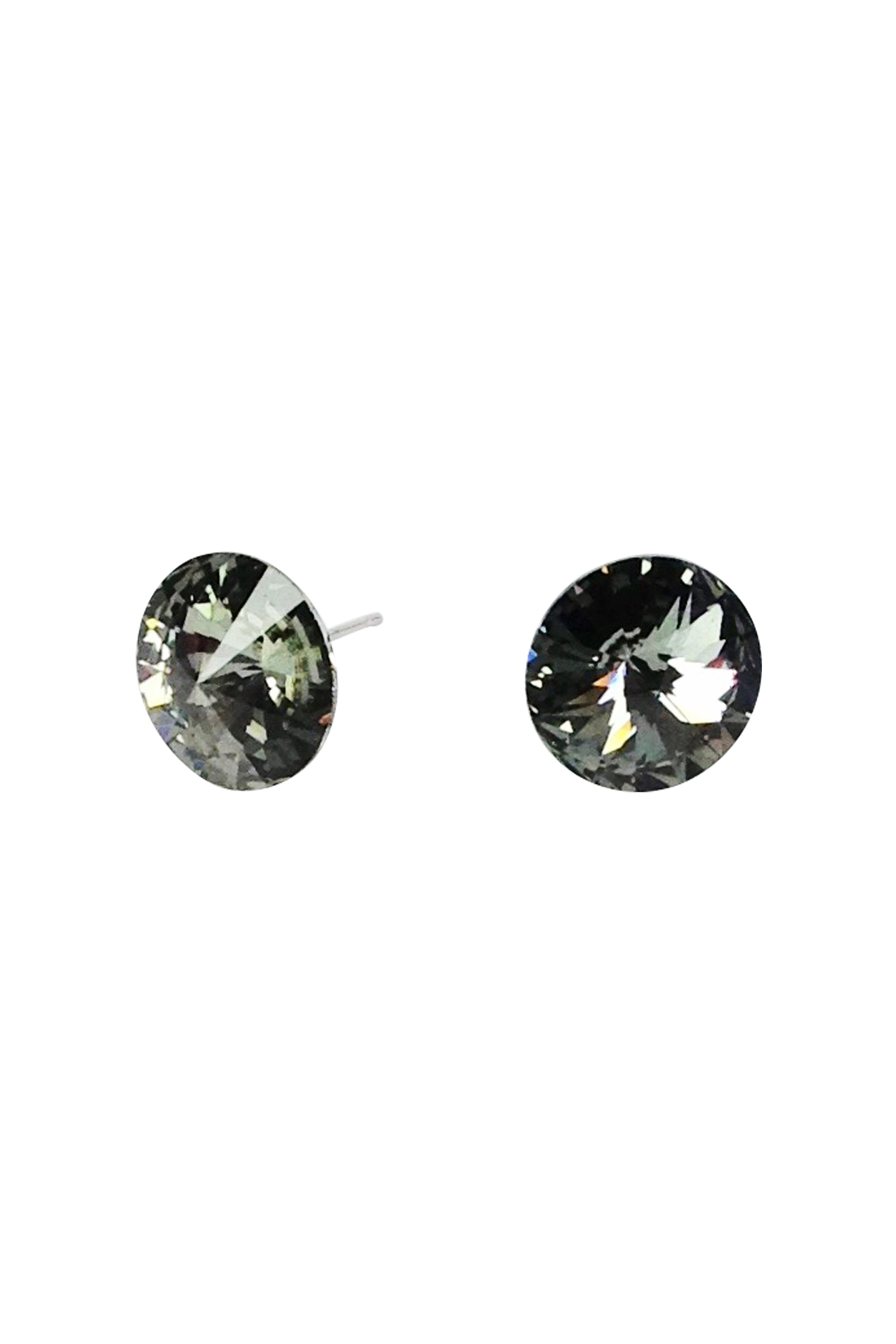 Black Diamond Swarovski Stud Earrings