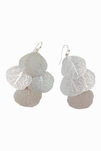 GH89b Silver Round Filigre Earrings
