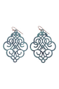 Gh81 Green Die-Cut Earrings