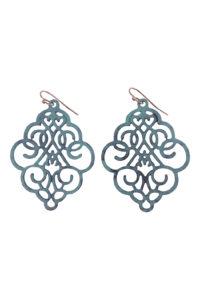 Gh81 Green Die-Cut Earrings