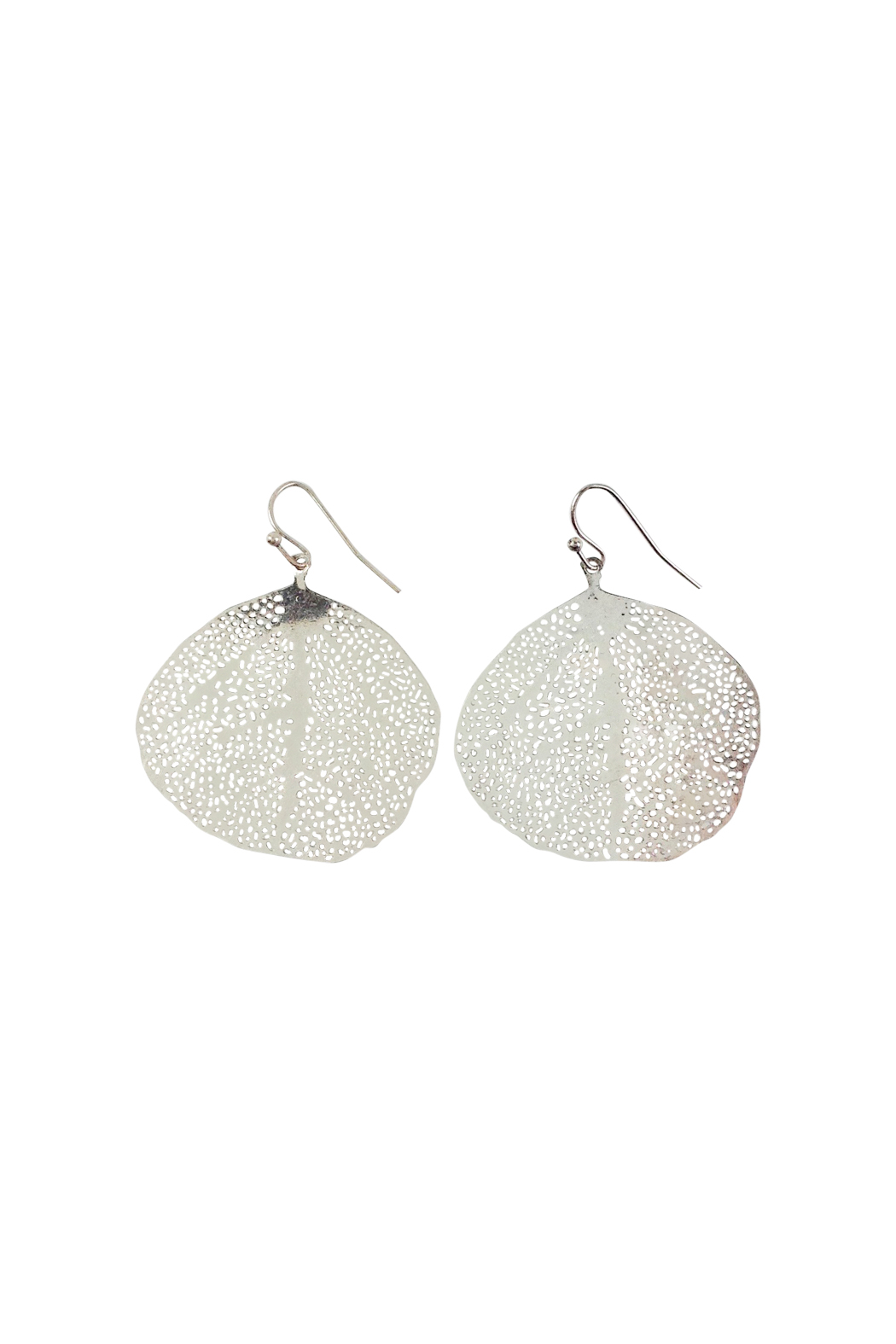 39c4bf0df Silver Filigree Leaf Earrings - Image Of Earring