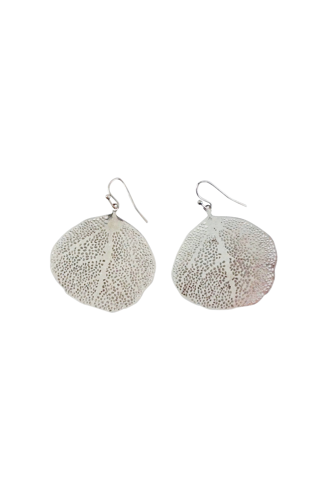 silver filigree leaf earrings go home modern decor