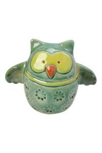 GH296 Green Ceramic Owl