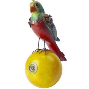 GH327 Parrot Sculpture on a Yellow Ball 1.b 2
