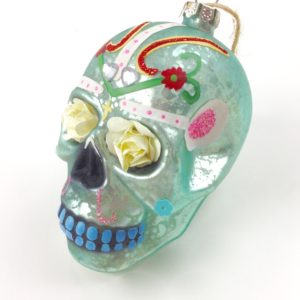 GH151 flower skull in mint 1