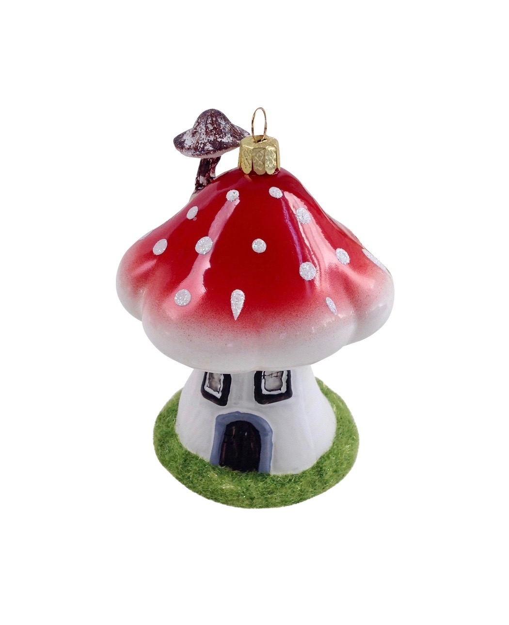 Red mushroom ornament go home modern decor gifts for Contemporary ornaments for the home