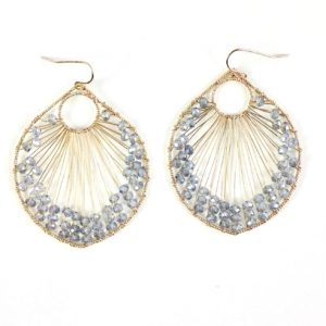GH388 Crystal Hand-Wired Earrings 1