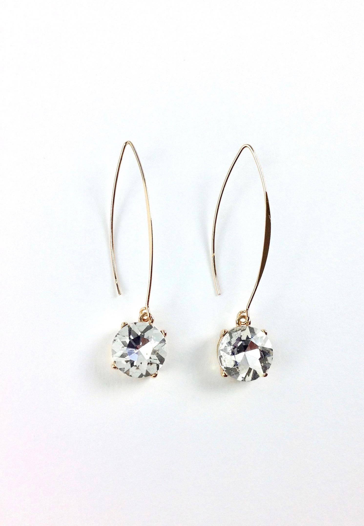 Clear Swarovski Earrings
