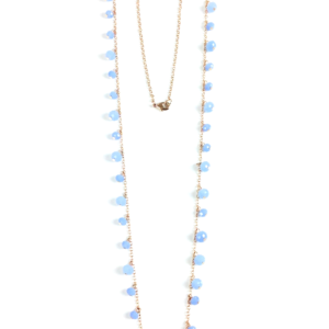 GH406 long necklace blue 1