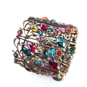 GH413 crystal Filigree Cuff 1