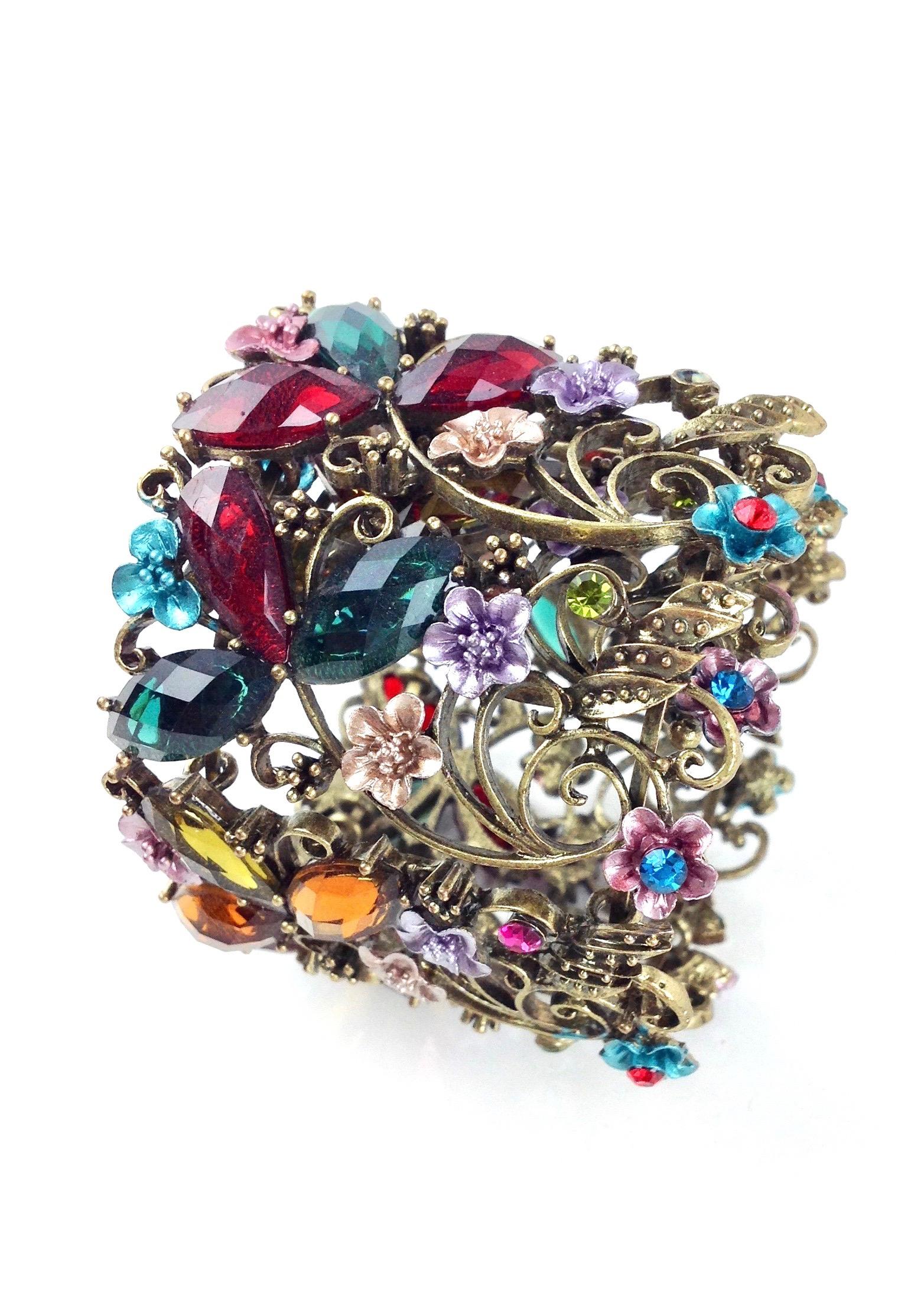 Crystal filigree cuff bracelet go home modern decor for Modern home decor gifts