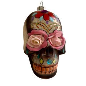 GH153 SILVER:BLACK Skull ornament 2