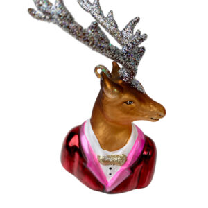 GH512 Glass Deer Ornament 1.