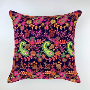 GH533 Eggplant Moroccan Pillow 3